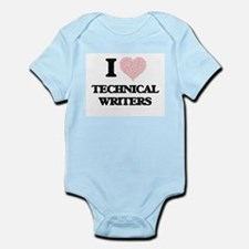 I love Technical Writers (Heart made fro Body Suit