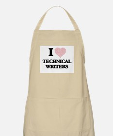 I love Technical Writers (Heart made from wo Apron
