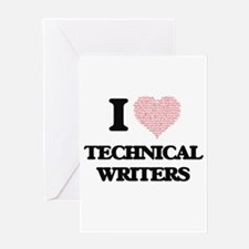 I love Technical Writers (Heart mad Greeting Cards