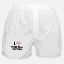 I love Technical Writers (Heart made Boxer Shorts