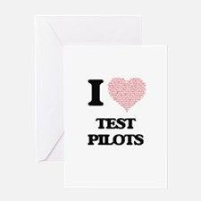 I love Test Pilots (Heart made from Greeting Cards