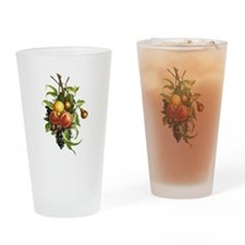 Peaches, Plums, Grapes and Pears by Drinking Glass