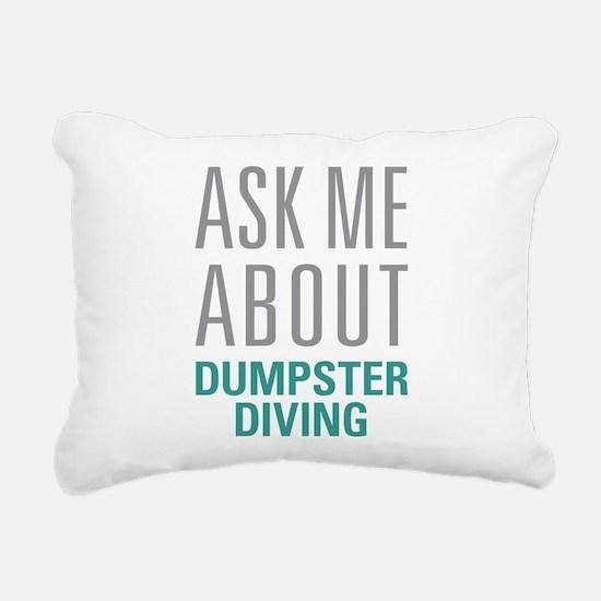 Dumpster Diving Rectangular Canvas Pillow