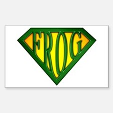 SuperFrog(Green) Rectangle Decal