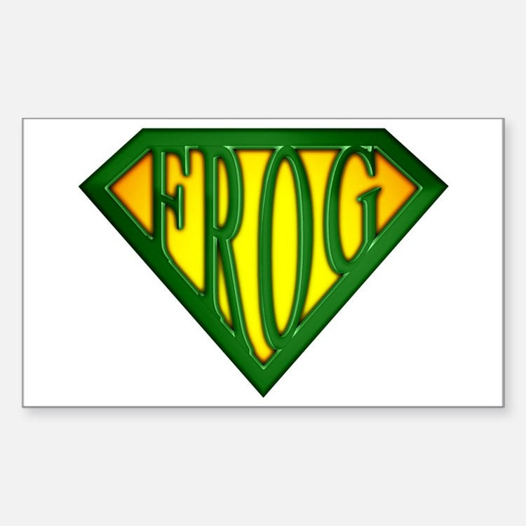 SuperFrog(Green) Rectangle Decal