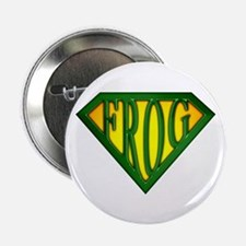 """SuperFrog(Green) 2.25"""" Button (10 pack)"""