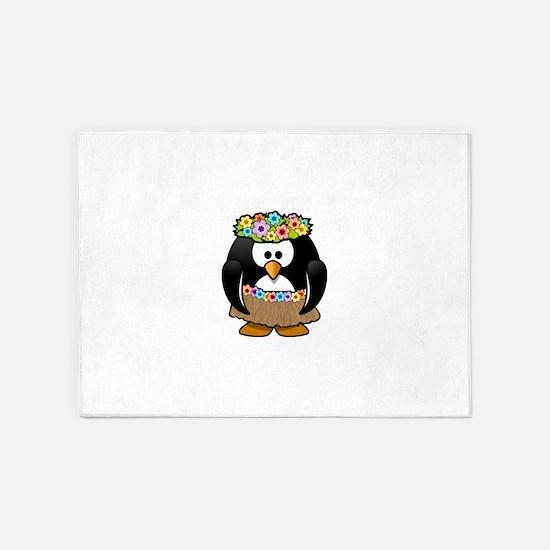 Hawaii Penguin 5'x7'Area Rug