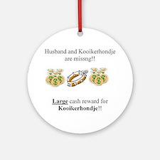 Kooikerhondje Missing Ornament (Round)
