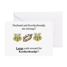 Kooikerhondje Missing Greeting Card