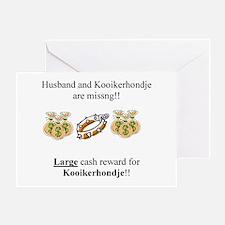 Kooikerhondje Missing Greeting Card