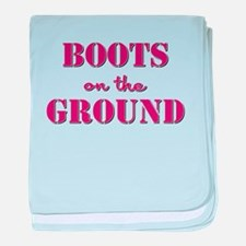 BOOTS on the GROUND baby blanket