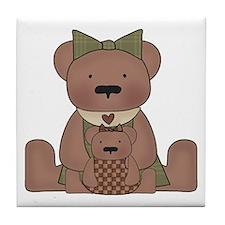 Teddy Bear With Teddy Tile Coaster