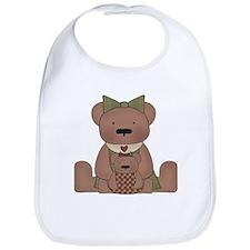 Teddy Bear With Teddy Bib