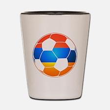 Armenian Soccer Ball Shot Glass