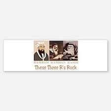 Three Rabbis Rock Bumper Bumper Bumper Sticker