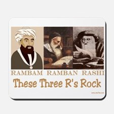 Three Rabbis Rock Mousepad
