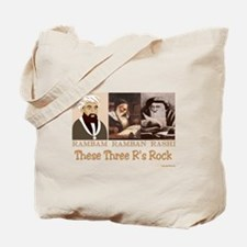 Three Rabbis Rock Tote Bag