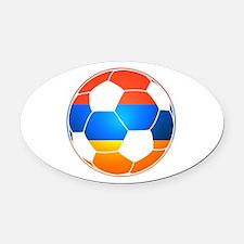 Armenian Soccer Ball Oval Car Magnet
