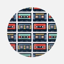 Cassettes Pattern Round Ornament