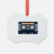Blue Cassette Ornament