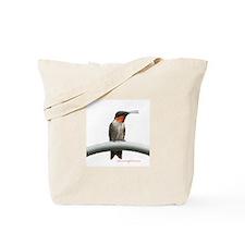 Tote Bag Hummingbird RubyThroated