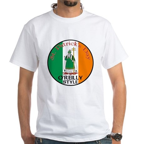 O'Reilly, St. Patrick's Day White T-Shirt