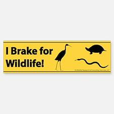 I Brake for Wildlife Bumper Bumper Bumper Sticker