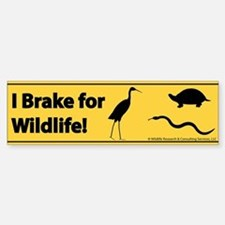 I Brake for Wildlife Bumper Bumper Bumper Sticker