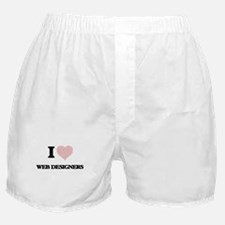 I love Web Designers (Heart made from Boxer Shorts