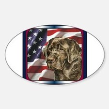 Labrador Retriever Patriotic US Flag Decal