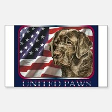 Beagle Dog Patriotic US Flag Rectangle Decal