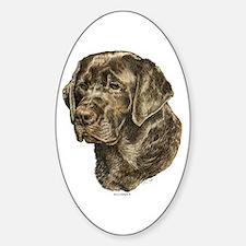 Labrador Retriever Dog Portrait Oval Decal