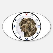 Labrador Retriever Dog Paws Oval Decal