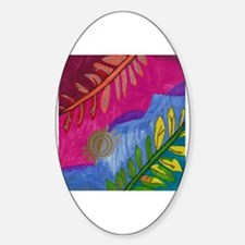 Cool Twilight flower Sticker (Oval)
