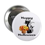 "Halloween Black Cat 2.25"" Button (10 pack)"
