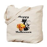 Halloween Black Cat Tote Bag