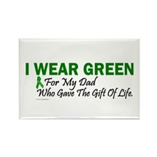 Green For Dad Organ Donor Donation Rectangle Magne