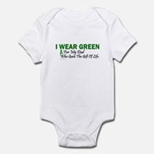 Green For Dad Organ Donor Donation Infant Bodysuit