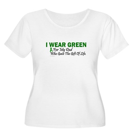 Green For Dad Organ Donor Donation Women's Plus Si
