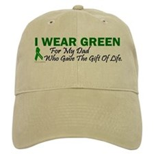 Green For Dad Organ Donor Donation Baseball Cap