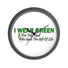 Green For Dad Organ Donor Donation Wall Clock