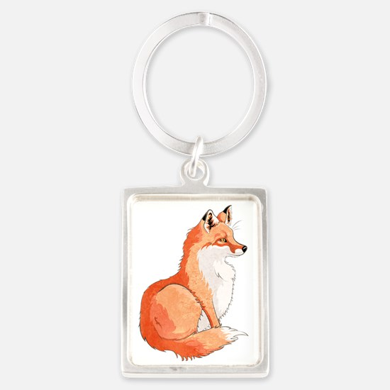 Sitting Fox Portrait Keychains