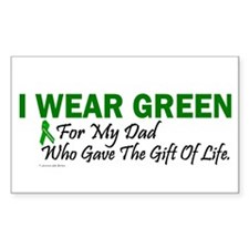 Green For Dad Organ Donor Donation Decal