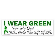 Green For Dad Organ Donor Donation Bumper Sticker
