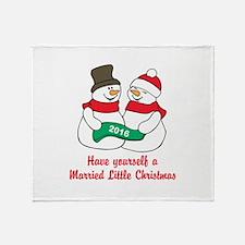 2016 Newlywed Christmas Throw Blanket