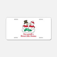 2016 Newlywed Christmas Aluminum License Plate