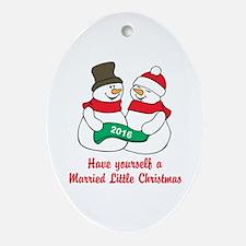 2016 Newlywed Christmas Oval Ornament