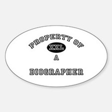 Property of a Biographer Oval Decal