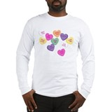 Conversation candy heart Long Sleeve T-shirts