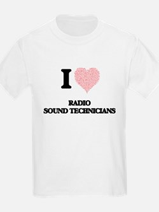 I love Radio Sound Technicians (Heart made T-Shirt